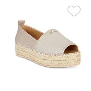 DKNY Mer Peep-Toe Espadrille Sandals,